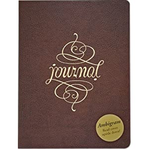 Ambigram Leather Journal (Diary, Notebook)