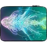Snoogg Digital Fishy 12 To 12.6 Inch Laptop Netbook Notebook Slipcase Sleeve