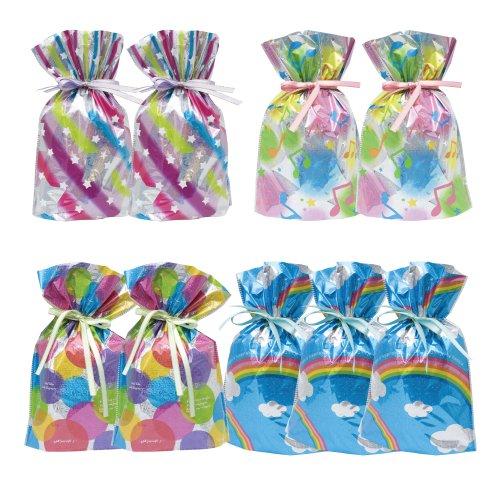 9-Piece Drawstring Gift Bags, Small, Celebration Assortment