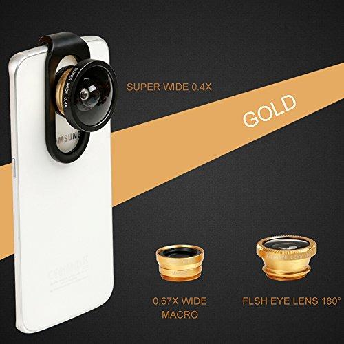 HD Mobile Phones Camera Lens Megadream 2 In 1 Macro Lens + Super Wide Angle Lens + CPL Lens Camera Lens Kit Universal...