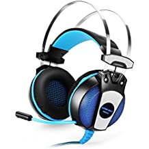 GranVela GS500 Stereo Pro Gaming Headsets Over-ear Headphones With Mic Noise Isolation And LED Light Comfortable...