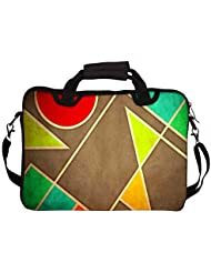 """Snoogg Pastel Geometric Shapes 2677 10"""" 10.5"""" 10.6"""" Inch Laptop Notebook SlipCase With Shoulder Strap Handle Sleeve..."""