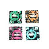 The Crazy Me - Quirky Emoticons Coasters Set