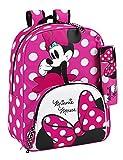 Minnie Mouse - Mochila adaptable, 33 x 42 cm (Safta 611513414)