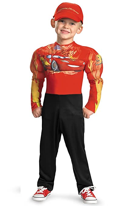 Cars 2 Boys Lightning McQueen Muscle Costume