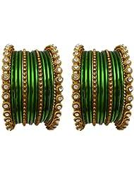 Bridal Chura Green Wedding Bangles Chuda By My Design