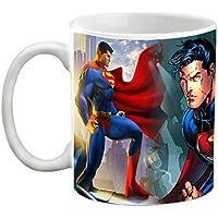 EFW Happy Birthday Animation Cartoon Superman Printed Coffee Mug