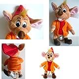 "Disney Princess Cinderella Jaq The Mouse Plush Toy Stuffed Toy 9"" H"