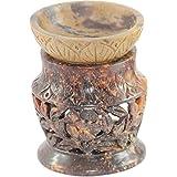 Craftly Valley Ceramic Tealight Candle Holder (8 Cm X 10 Cm X 8 Cm , Brown)