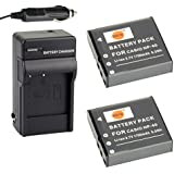 DSTE 2x NP-40 Battery + DC73 Travel And Car Charger Adapter For Casio EX-FC100 FC150 FC160S Z400 PRO P505 P600...