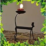 Chinhhari Arts Tribal Wrought Iron Monkey Candle Stand ( Black, 13.97 Cm X 11.43 Cm X 5.08 Cm )