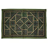 Lalhaveli Indian Traditional Cotton Wall Hanging Adorn With Embroidery Work Khambadia Mirror Work Tapestry