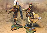Zulu War Mbonambi Wounded 2 Piece Set Collectors Showcase Toy Soldiers Painted Metal Figure 54mm CS00327