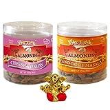 Chocholik Dry Fruits - Almonds Cheese Onion & Tandoori Masala With Small Ganesha Idol - Diwali Gifts - 2 Combo...