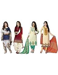 Shiroya BrothersWomen's Cotton Printed Unstitched Regular Wear Salwar Suit Dress Material (Combo Pack Of 4)(SB...