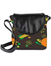 Snoogg Abstract Science Background Womens Sling Bag Small Size Tote Bag