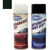 Aerosol Color+Clearcoat Package , UA/M6373 (1997-1998) Black Ebony Clearcoat : ExpressPaint Aerosol Ford E-Series Automotive Touch-up Paint - Black Ebony Clearcoat UA/M6373 - Color+Clearcoat Package
