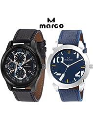 MARCO Elite Gents Combo 221 1001 Blue Analog Watch - For Men
