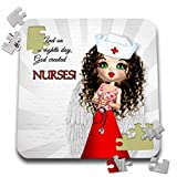 Doreen Erhardt Nurses Collection - And on the Eighth Day God Created Nurses this cute Nurse has Wings like an Angel - 10x10 Inch Puzzle (pzl_127617_2)