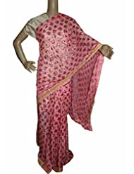 Beautiful RUDA Designer Phulkari Embroidered Saree-JS1100