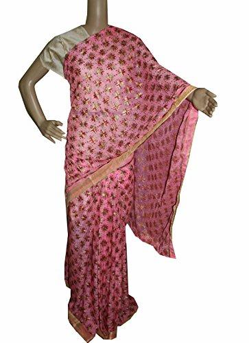 Beautiful RUDA Designer Phulkari Embroidered Saree-JS1100