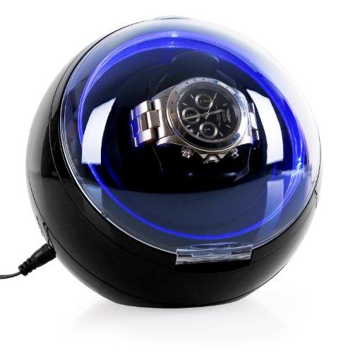 Klarstein St.Gallen Deux Remontoir automatique silencieux pour une montre (4 modes, éclairage LED chic) - noir