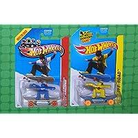 Hot Wheels Skate Punk Blue & Yellow Set Of 2