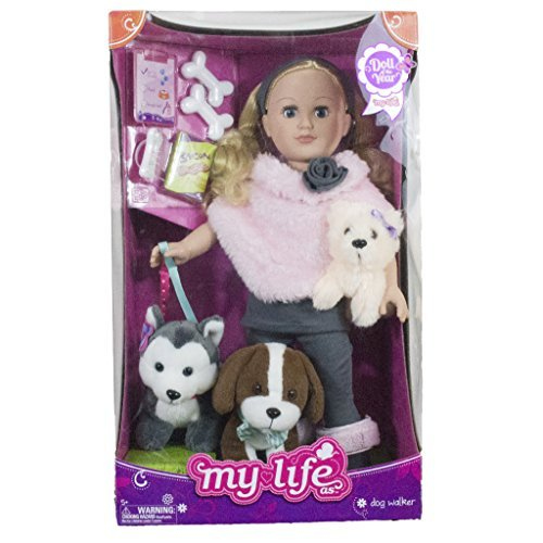 My Life As 18 inch Doll of the Year Dogwalker Blonde - Walmart Exclusive