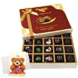Rich And Delights Treat Of Dark And Milk Chocolate Box With Sorry Card - Chocholik Belgium Chocolates