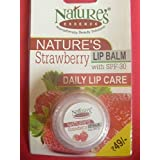 2 X Natures Essence Straberry Lip Balm With Spf 30 Daily Lip Care (2 Pack X 4g Each)