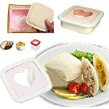 Glive's Sandwich Cutter Bread Mold Toast Maker Cake Cookie Cutter Heart Shaped Toaster 1 Get 1 Gift FREE !!!!