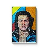PosterGuy Poster - Paapa Ranjeet Ranjeet, Bollywood, Villian, Pen Art, Brush Pen Art, Colorful, Legend (A4)