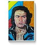 PosterGuy Poster - Paapa Ranjeet Ranjeet, Bollywood, Villian, Pen Art, Brush Pen Art, Colorful, Legend