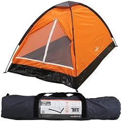 Tienda iglú para dos personas Milestone Camping - Naranja