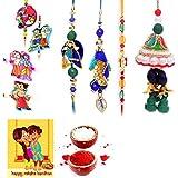 Gomati Ethnic Designer Ethnic 8 Pc Family Special Rakhi Gift Set Rakhi Gifts For Brother Free Shipping+Roli+Chawal+Greeting Card !! 2Bb4Ks315
