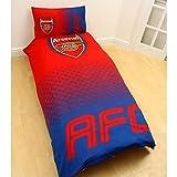Arsenal FC Fade Single Duvet Cover and Pillowcase Set