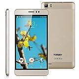 "Timmy M12 - Smartphone Móvil Libre 3G Android 5.1 (5.5"" HD Pantalla, 1.3GHz, Dual Sim, Quad Core, 8Gb Rom, 1Gb Ram, Air Gesture, Multi-Idioma), Dorado"