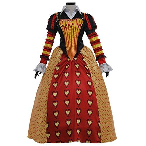 Halloween 2017 Disney Costumes Plus Size & Standard Women's Costume Characters - Women's Costume Characters Women's Plus Size Dress Set for Alice in Wonderland Red Queen of Hearts Cosplay