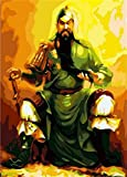 Diy oil painting, paint by number kit - Guan Yu 16*20 inch.