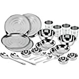 Kitchen Pro Stainless Steel Dinner Set Of 24 Pcs