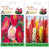 Alkarty Poppy Shirley Mixed And Antirrhinum Snapdragons Seeds Pack Of 20 (Winter)