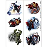 The Avengers Party Temporary Tattoos (2 Sheets - 12 Tattoos)