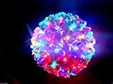 Crystal LED Hanging Single Ball Rice Light + (FREE 1 HAND Shape LED Light KEY-CHAIN) for Festivals Diwali/Christmas Home Decoration Lights