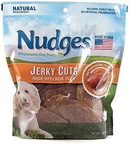 Amazon.com : Nudges Dog Treats Duck Jerky Cuts 18 Ounces