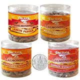 Chocholik Dry Fruits - Almonds Lemon Pepper, Tandoori Masala, Tangy Tomato & Mexican Salsa With 5gm Pure Silver...