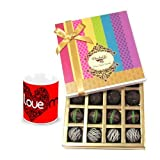 Valentine Chocholik Belgium Chocolates - Ultimate Dark Truffle Collection With Love Mug