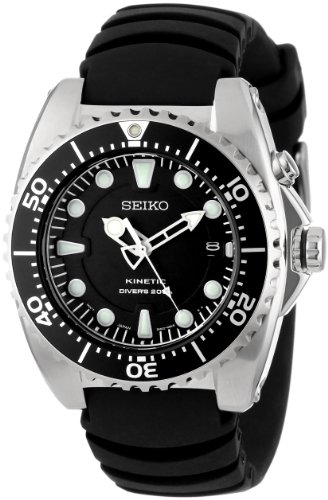 "Seiko Men's SKA413 ""Adventure"" Stainless Steel Kinetic Diver Watch"