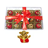 Chocholik Luxury Chocolates - 15pc Magical Collection Of Truffles With Small Ganesha Idol - Gifts For Diwali