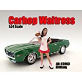 Carhop Waitress Brittany Figure For 1:24 Scale Models by American Diorama 23963
