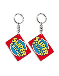 Gift For Friend & Friendship Day Gift Set Of 2 Keychain Design 7
